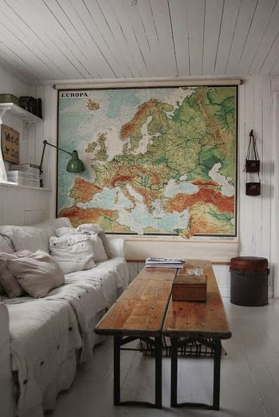 vintage map as art