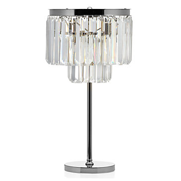 Z GALLERIE LUXE CRYSTAL TABLE LAMP