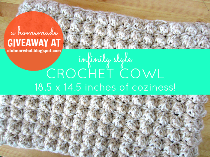 easy infinity scarf, crochet for beginners pattern