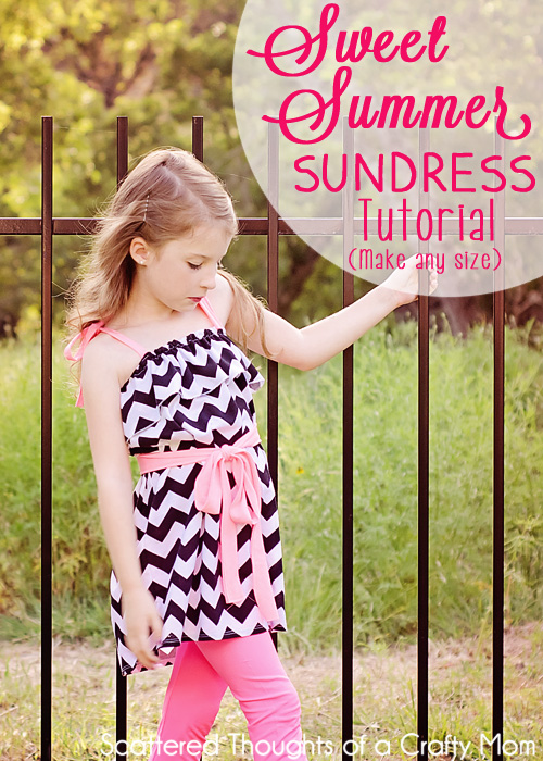 Tutorial to make this adorable sundress in any size. It&#39;s so easy, no pattern to cut out, just a few measurements and a couple of hours is all you need!