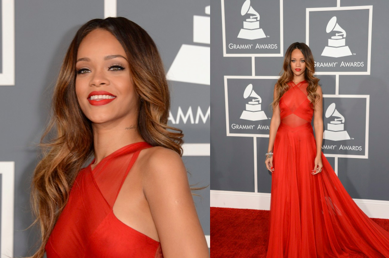 Rihanna Was Red Hot on The Red
