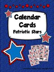 Patriotic Stars Calendar Cards