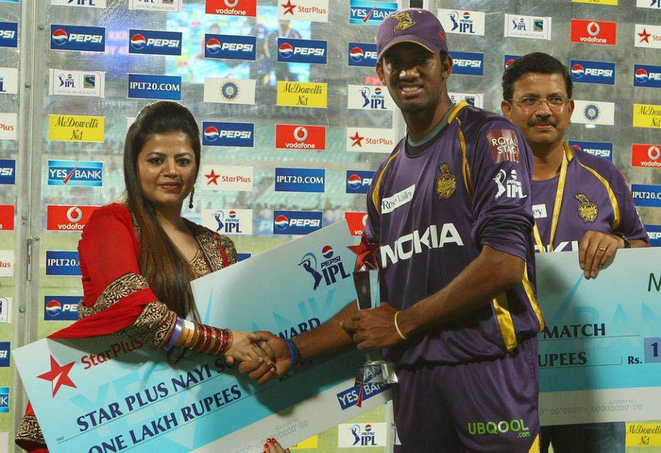 Sachithra-Senanayake-Star-Plus-award-KKR-vs-SRH-IPL-2013