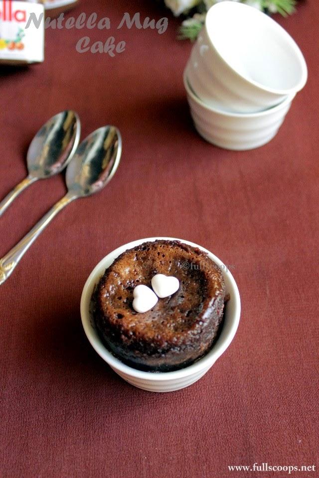 Ingredient Nutella Mug Cake