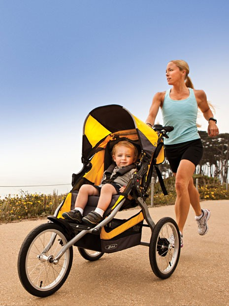 stroller running technique