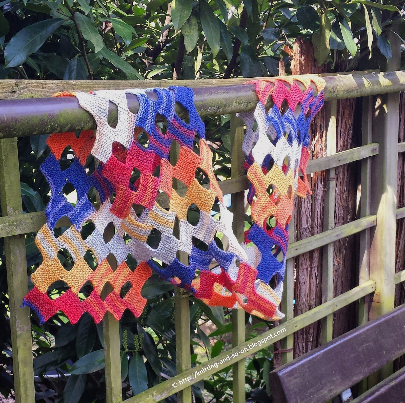Free Knitting Pattern: Little Rectangles Summer Scarf