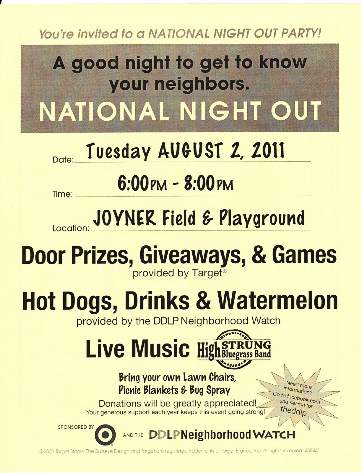 TheDDLP Neighborhood Watch Blog: 4th annual National Night Out flyer