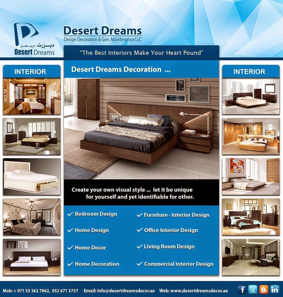 Desert dreams is a full services of design and interior for Al amwaj furniture decoration factory