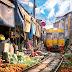 """Пазарът на """"сгъваемите сергии"""" в Тайланд"""