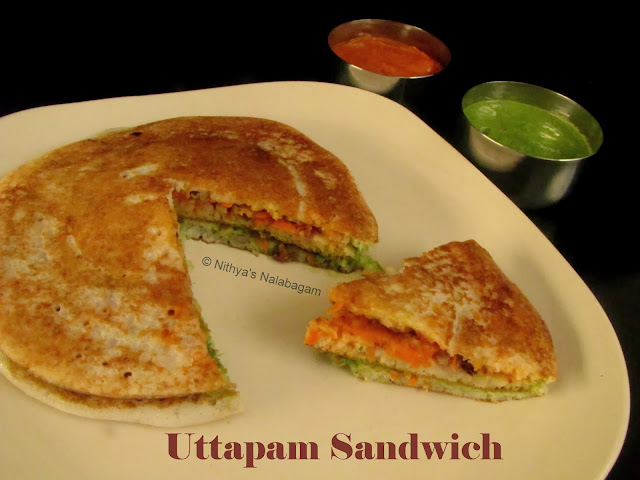 South Indian Uttapam Sandwich