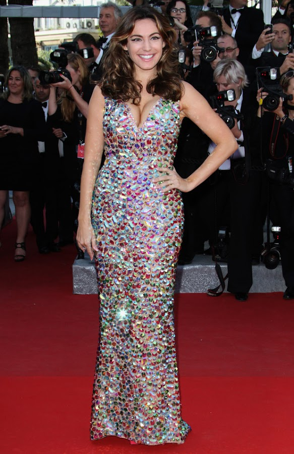 Kelly Brook attends  Killing Them Softly red carpet
