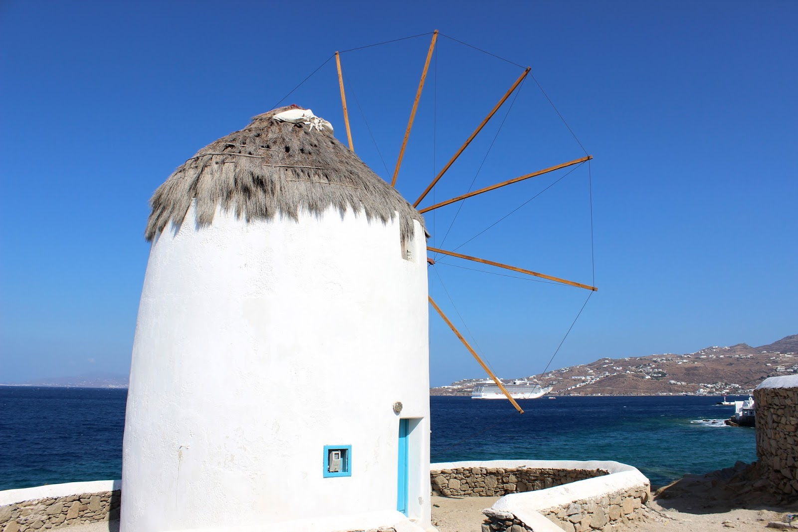 Mykonos Windmill with a view