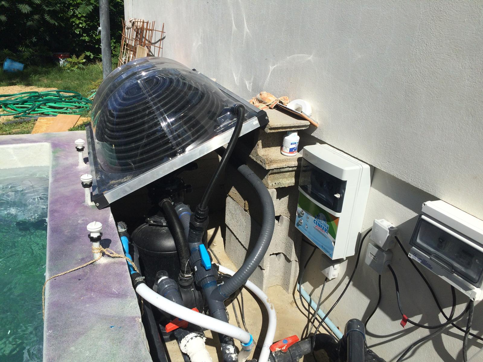 Installation d 39 une unit solaire construction d 39 une for Systeme solaire piscine