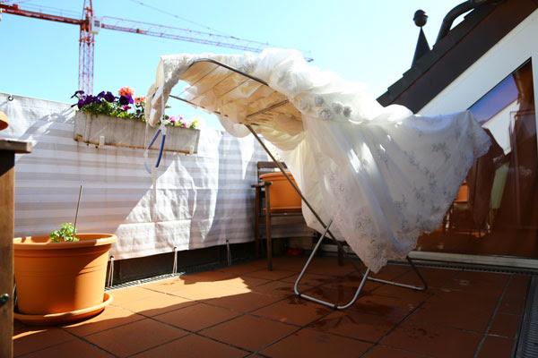 dry your wedding dress