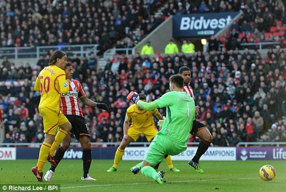 Video Gol Sunderland vs Liverpool 0-1