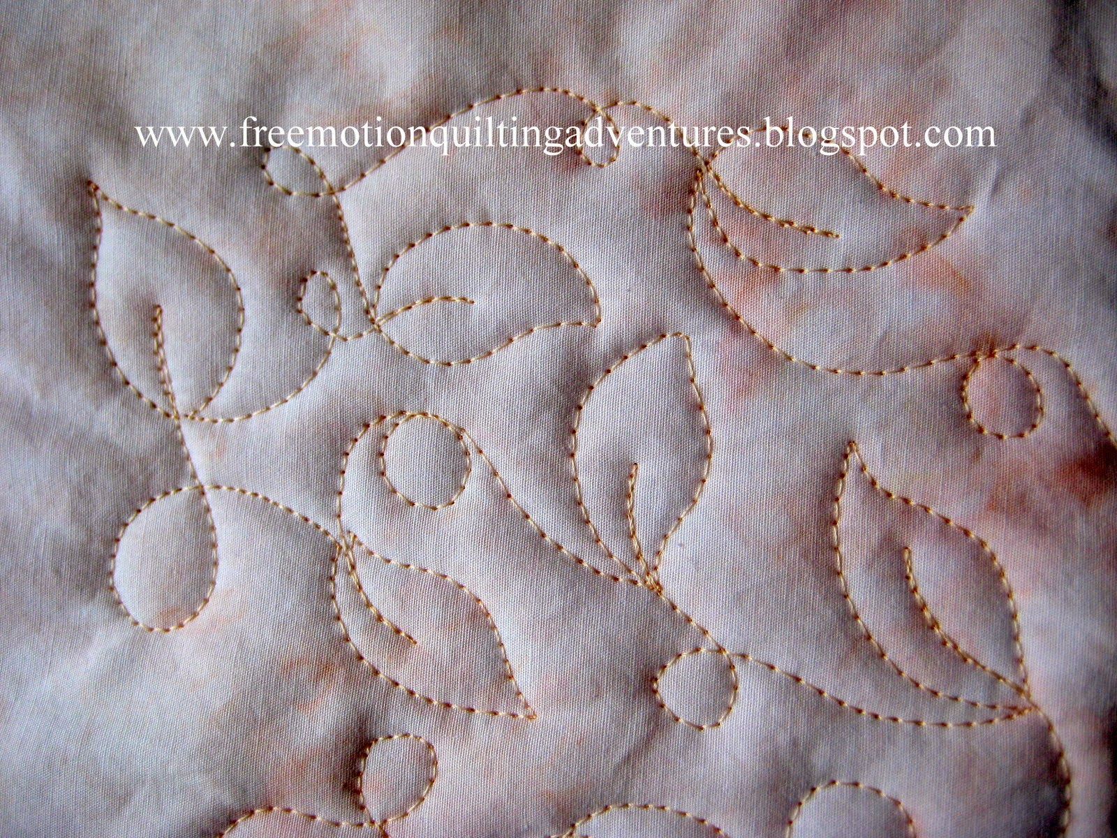 free motion quilting loops and lines