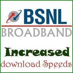 BSNL Increased Download Speed in Unlimited Broadband Plans