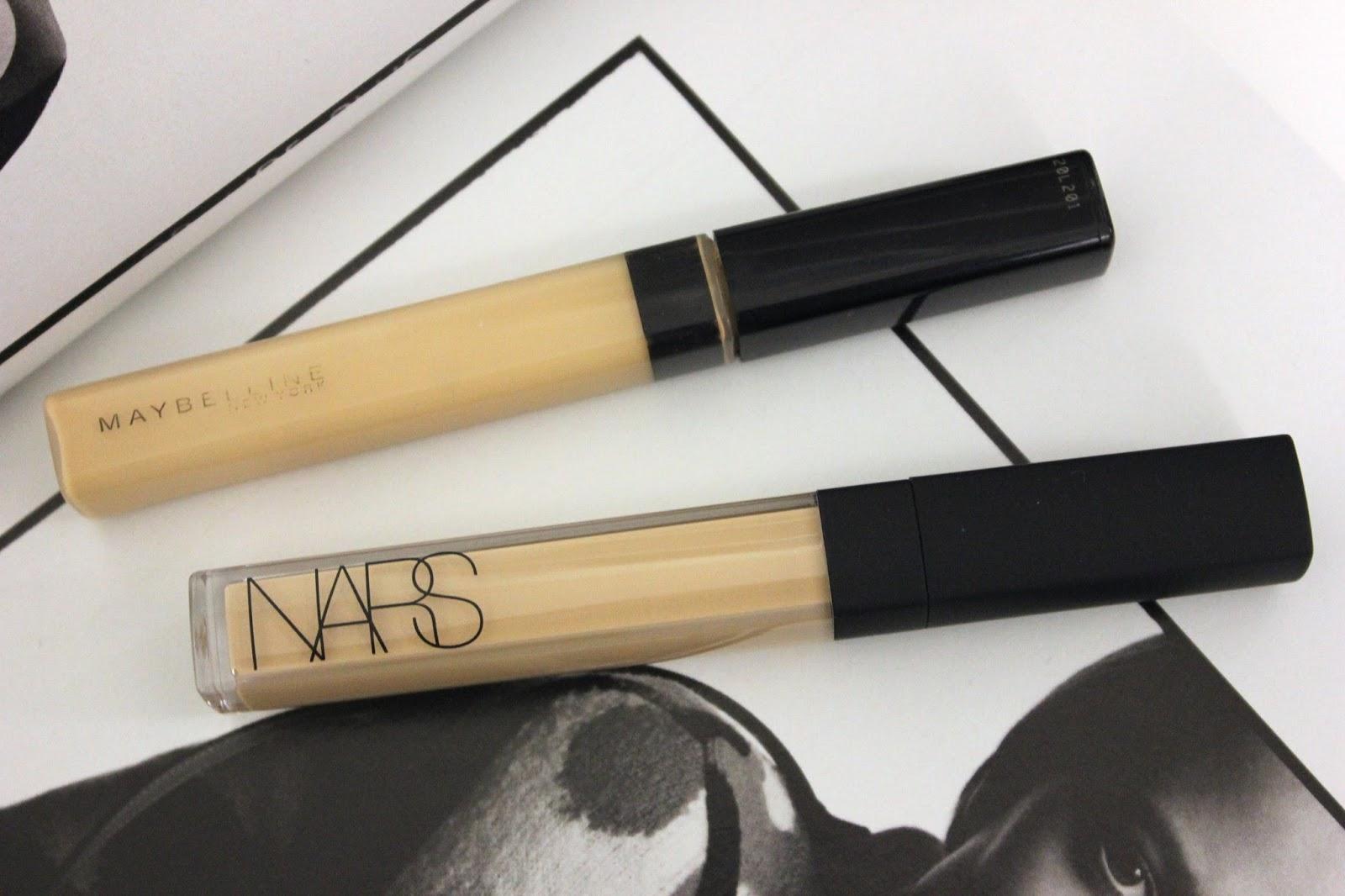 REVIEW + COMPARISON: NARS Radiant Creamy Concealer V.S. Maybelline ...