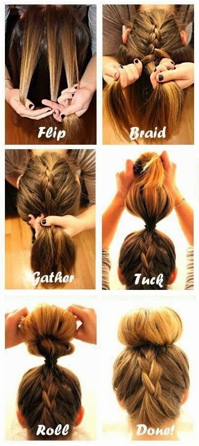 Beauty How To Do The Upside Down French Braid Bun My