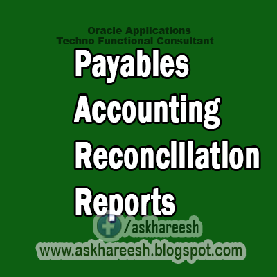 Payables Accounting and Reconciliation Reports