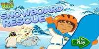 Спасатель Диего на сноуборде - Diego Snowboard Rescue