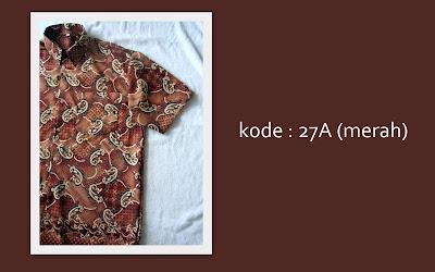 Baju Batik Pria 27A