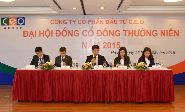 Đại hội cổ đông Ceo group