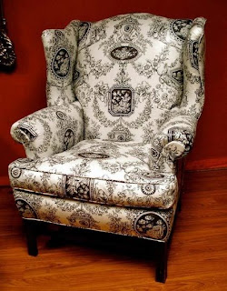 Antique Style 18th Century George Iii Wingback Chair