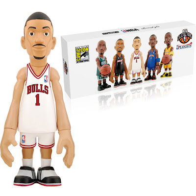 San Diego Comic-Con 2011 Exclusive CoolRain x MINDstyle NBA Playoffs Mini Figure Box Set - Exclusive White Bulls Jersey Derrick Rose Vinyl Figure