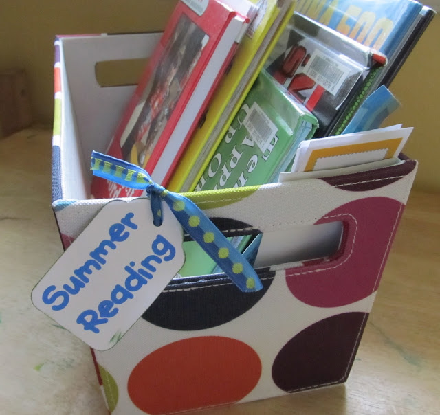 "Nothing says ""summer vacation"" like a big basket of books to read! Here are osme ideas to get you started."