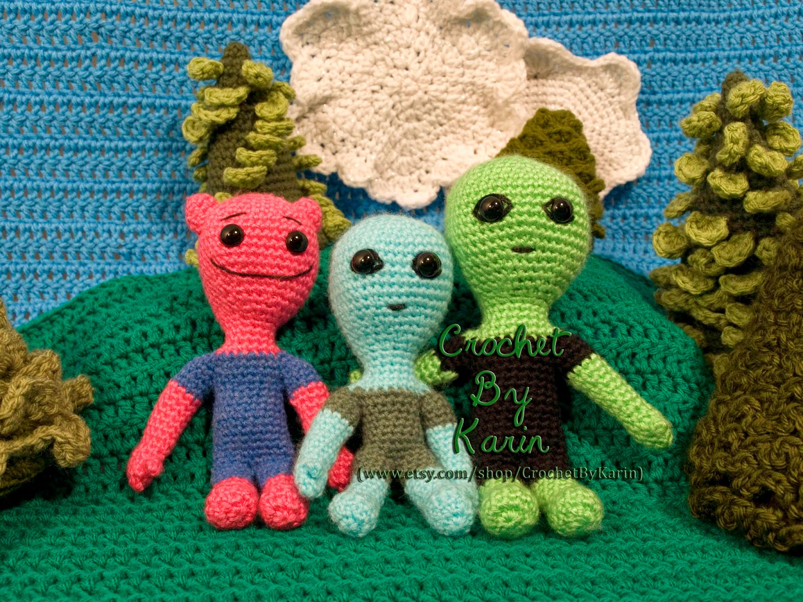 Crochet Amigurumi Alien : CrochetByKarin: Crochet Amigurumi Alien Pattern