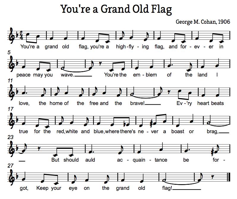 Piano Sheet Music For Shenandoah: American Folk Songs