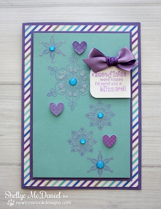 Snowflake Card by Shellye McDaniel for Newton's Nook Designs | Beautiful Blizzard Stamp Set