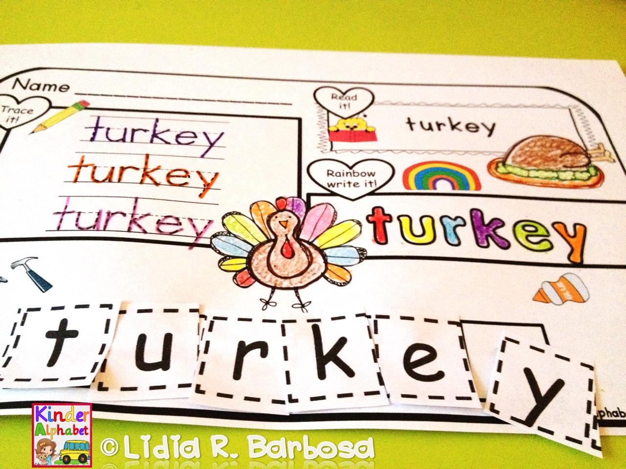 spanish thanksgiving worksheets