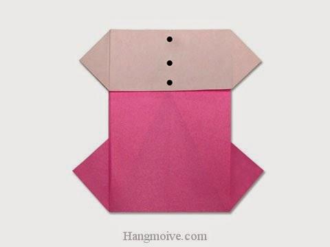 Cách gấp, xếp váy đầm công sở bằng giấy origami - Video hướng dẫn xếp hình quần áo - How to fold a One Piece Dress