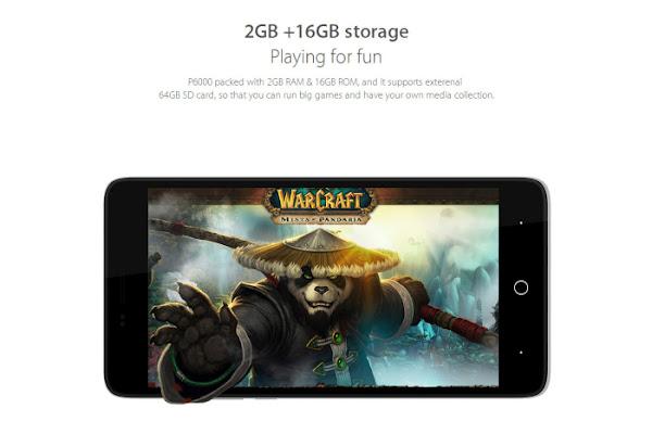 Elephone P6000 - Storage and Memory