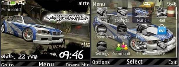 Download Tema nokia c3, x2, asha 305 - need for speed