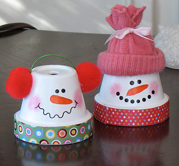 Make snowmen with pots