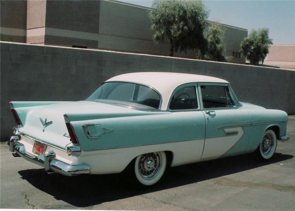 Car style critic tacking on tail fins for 1956 plymouth belvedere 4 door