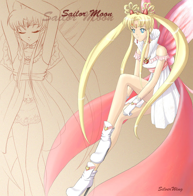 Sailor Moon por Omen-of-SilverWing