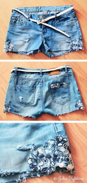 Как можно из джинсов сделать шорты