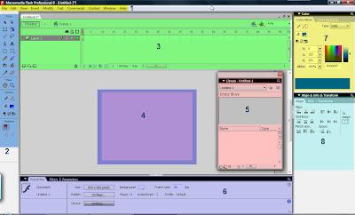 Tampilan Macromedia Flash 8 2