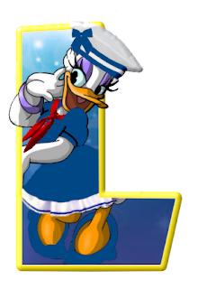 Alfabeto de personajes Disney con letras grandes L Daisy.