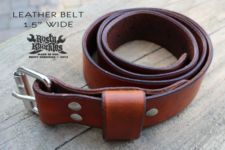 custom leather belts from knuckles are built to last