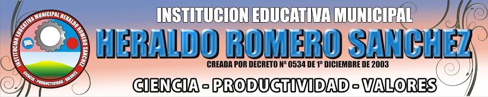 INSTITUCION EDUCATIVA MUNICIPAL HERALDO ROMERO SANCHEZ