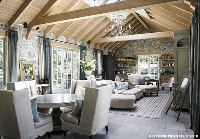 Natural Wood Beams And Ceiling