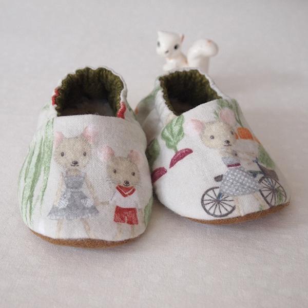 flannel baby booties lovelui