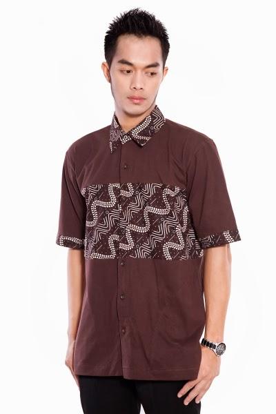 Model baju muslim batik pria casual