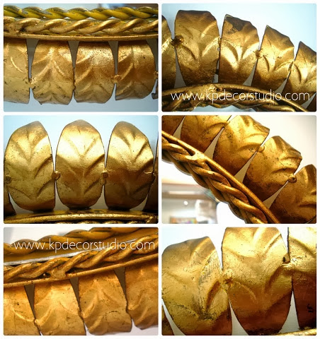 Espejos dorados con pan de oro, espejos  soles, flores, hojas