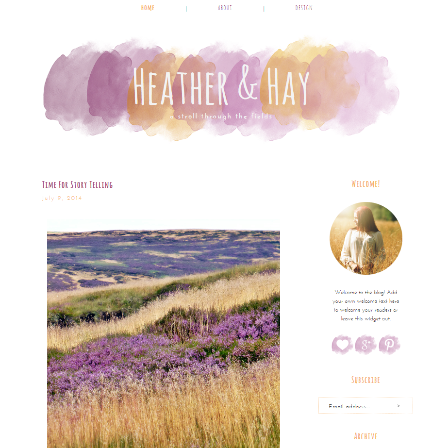 Premade Blogger Templates - A New Adventure | The Dutch Lady Designs
